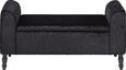 Sitzbank Schwarz - Schwarz, LIFESTYLE, Holz/Textil (115/58/44cm)