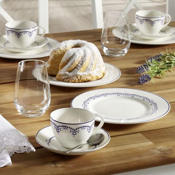 Kaffeeservice aus Porzellan 18-teilig ''Daily Blue'' - Blau/Weiß, KONVENTIONELL - Gallo Design