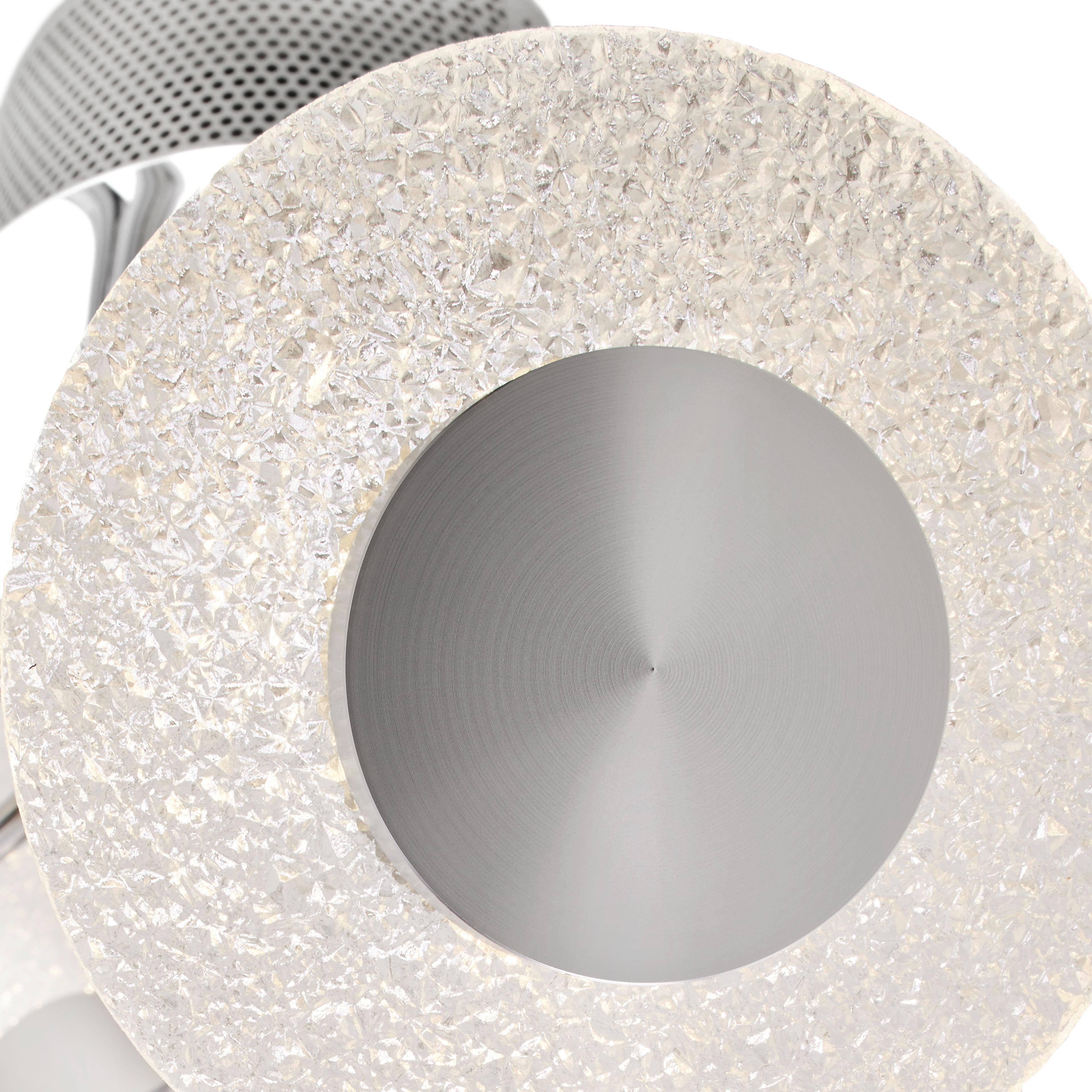 LED-Deckenleuchte Parici - Chromfarben, MODERN, Kunststoff/Metall (42,5/42,5/28cm) - MÖMAX modern living