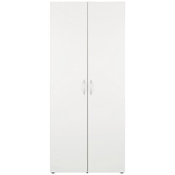 Mehrzweckschrank Weiß - Alufarben/Weiß, Holzwerkstoff/Kunststoff (80/185/40cm) - Mömax modern living