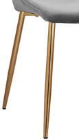 Stuhl Lene - Dunkelgrau/Kupferfarben, MODERN, Holz/Textil (45/87/55cm) - Modern Living