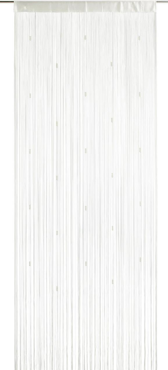 Fadenstore perle Weiß - Weiß, ROMANTIK / LANDHAUS, Textil (90/245cm) - Mömax modern living
