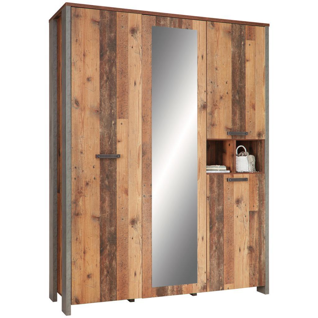 Kleiderschrank in Braun mit Spiegel