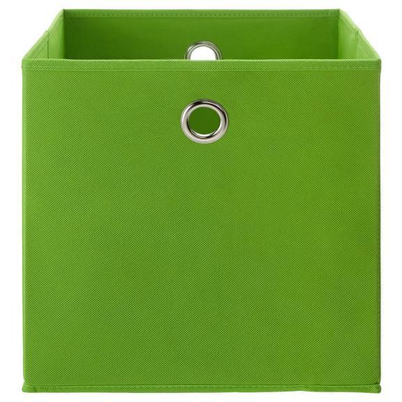 Faltbox Fibi Grün - Grün, MODERN, Karton/Textil (30/30/30cm) - Based