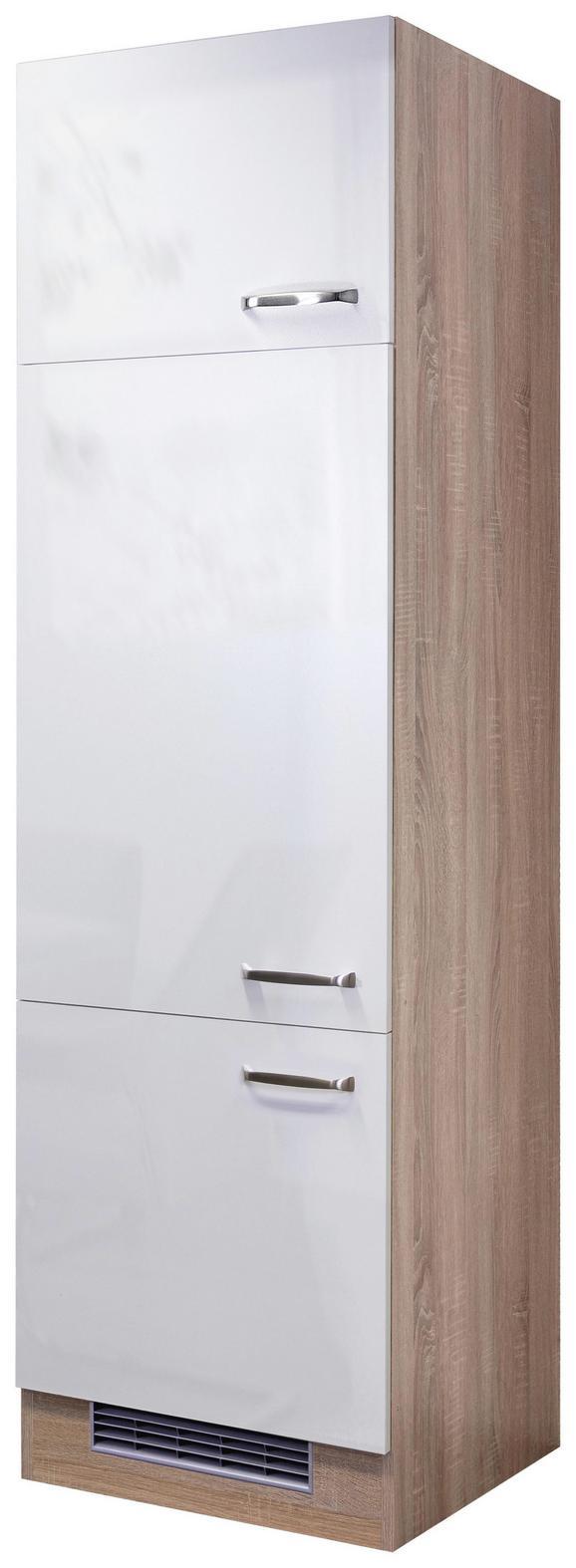 Omara Za Vgradnjo Naprav Venezia Valero - bela/hrast, Moderno, kovina/leseni material (60/200/57cm)