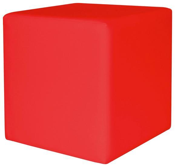 Tabure Colorfull Cube - rdeča/bež, Moderno, umetna masa/tekstil (40/40/42cm) - Mömax modern living