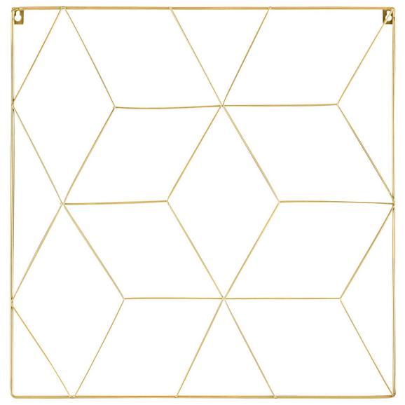 Cliprahmen Larissa Goldfarben - Goldfarben, Design, Metall (50/50cm)
