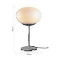 Tischleuchte max. 40 Watt 'Florica' - Chromfarben, MODERN, Glas/Metall (30/55cm) - Bessagi Home