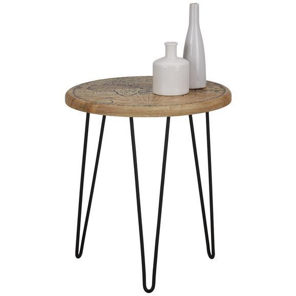 beistelltisch schwarz naturfarben online kaufen m max. Black Bedroom Furniture Sets. Home Design Ideas