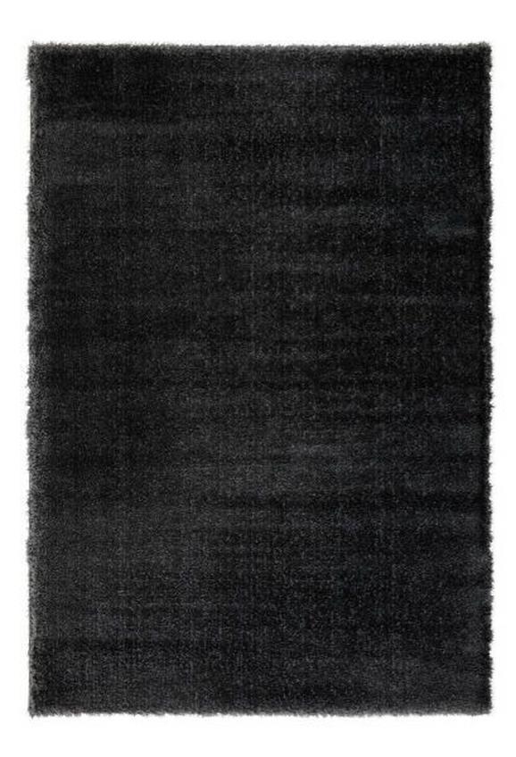 Hochflorteppich Florenz Schwarz 80x150cm - Schwarz, MODERN, Textil (80/150cm) - Mömax modern living