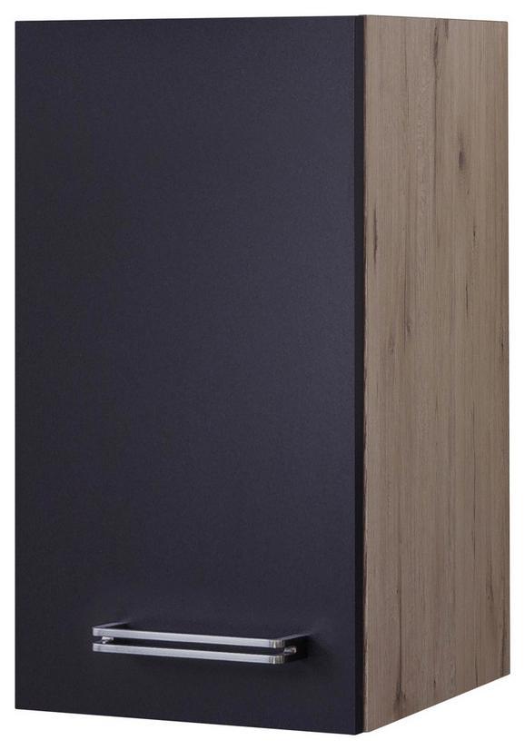 Kuhinjska Zgornja Omarica Milano - hrast/antracit, Moderno, kovina/leseni material (30/54/32cm)