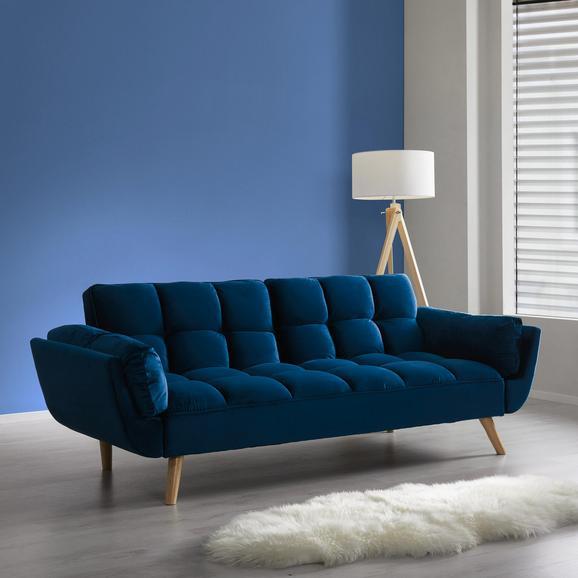 Sofa Clara mit Schlaffunktion - Blau, MODERN, Holz/Textil (214/82/81cm) - Mömax modern living