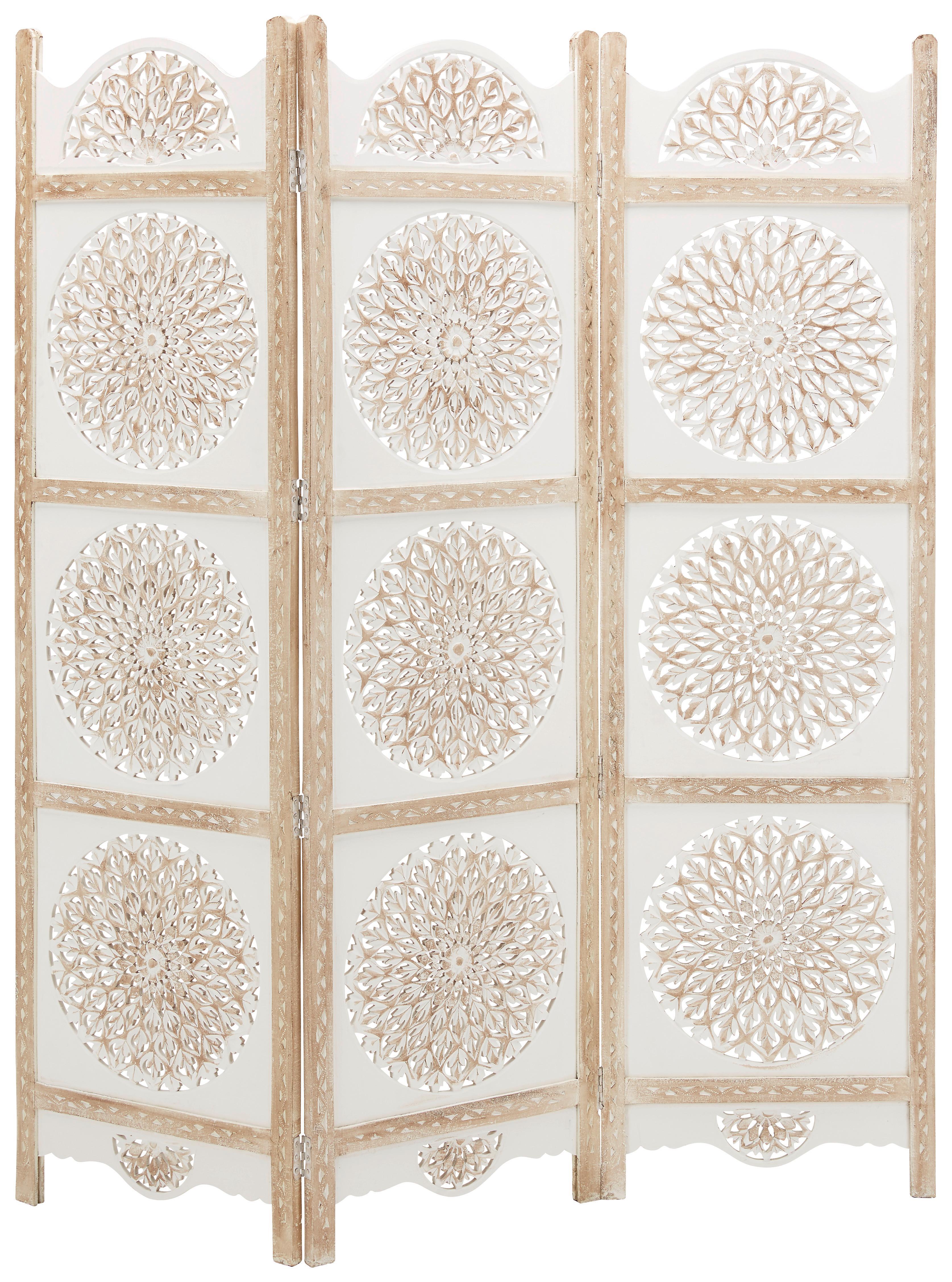 Paravent Braun/Weiß