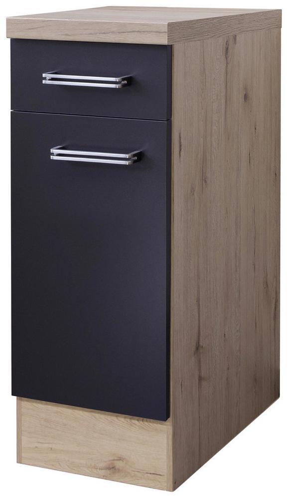 Kuhinjska Spodnja Omarica Milano - hrast/antracit, Moderno, kovina/leseni material (30/86/60cm)