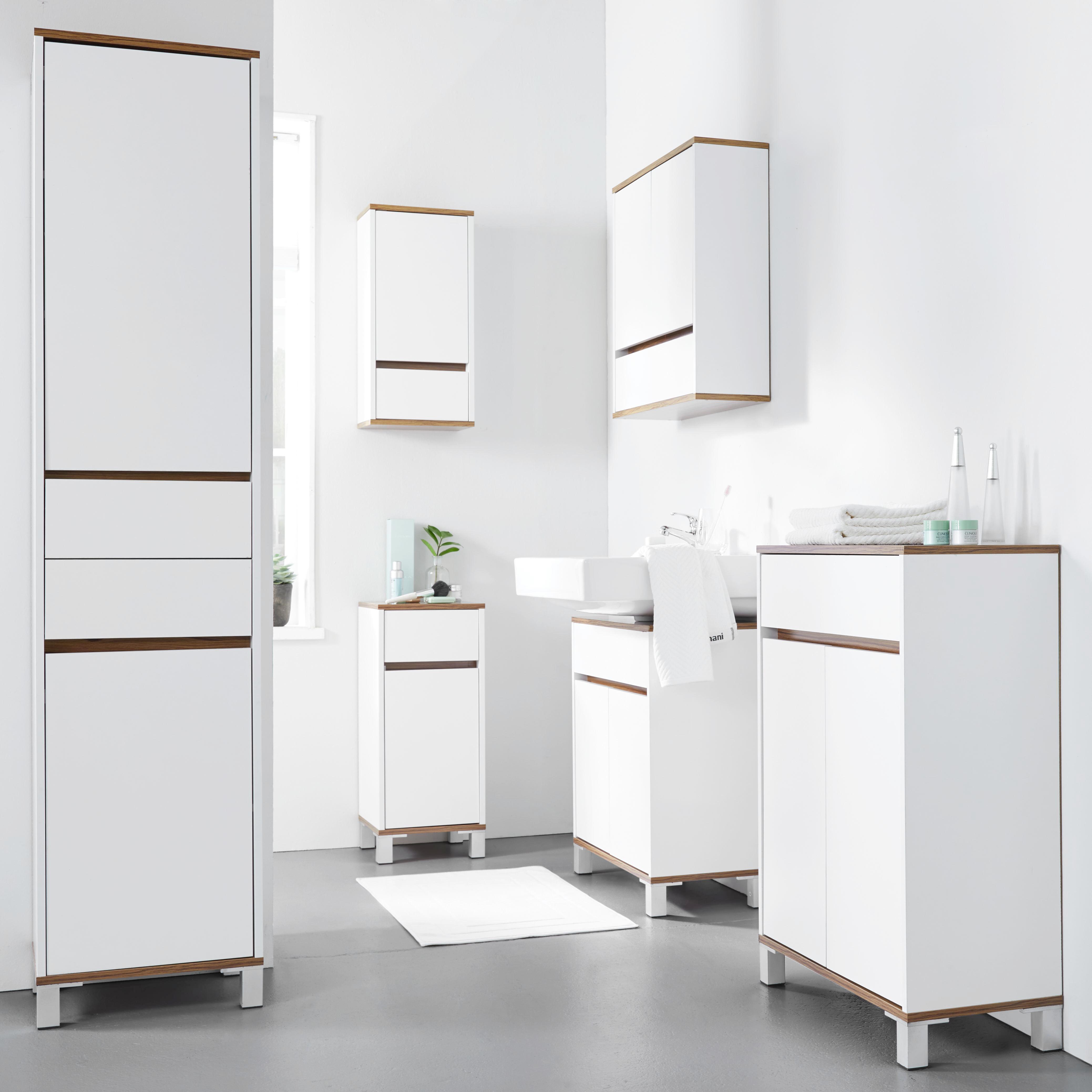 Hängeschrank Franca - Braun/Weiß, MODERN, Holz (30/62/19cm) - MÖMAX modern living