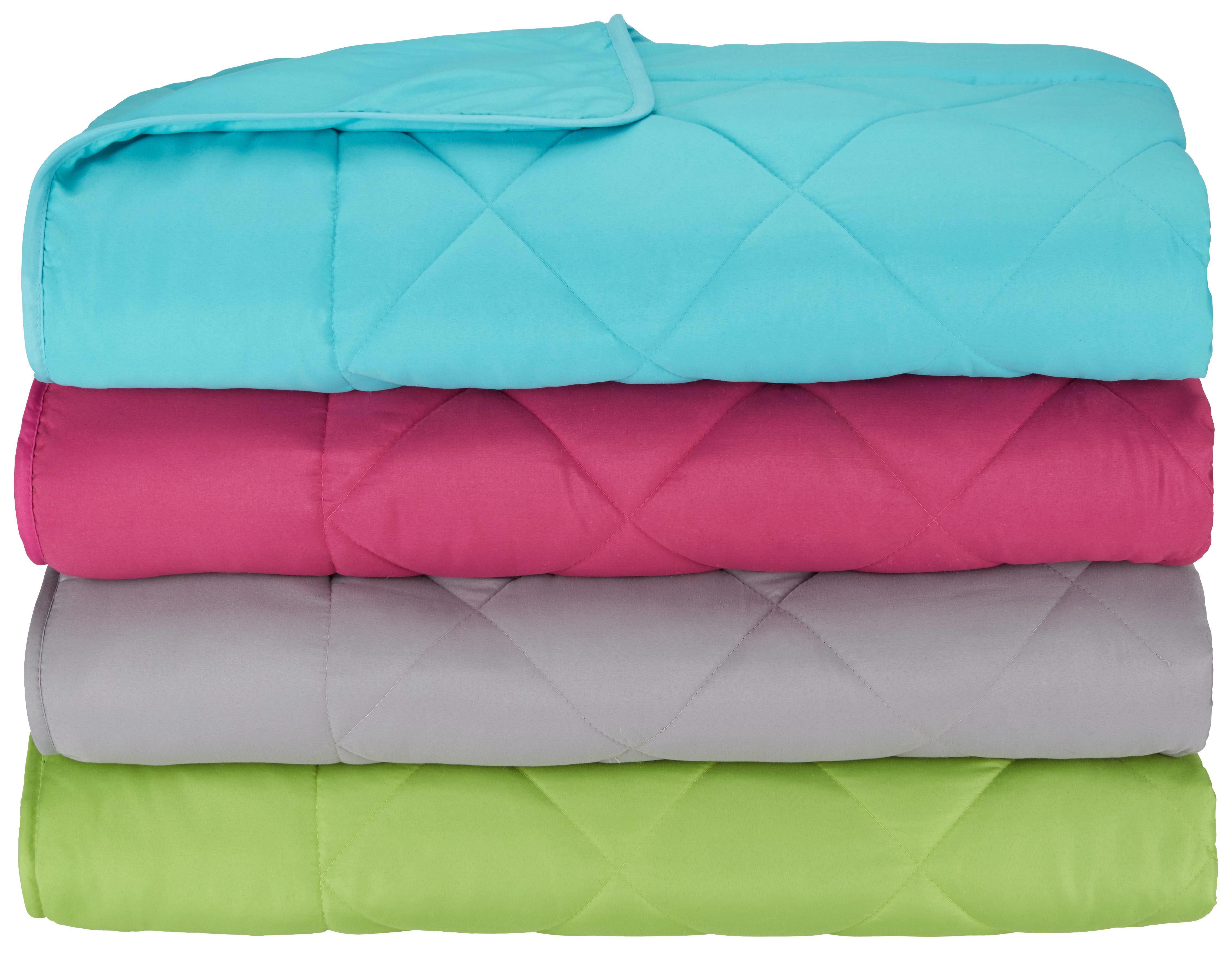 Einziehdecke Nicole, ca. 135x200cm - Blau/Magenta, KONVENTIONELL, Textil - MÖMAX modern living