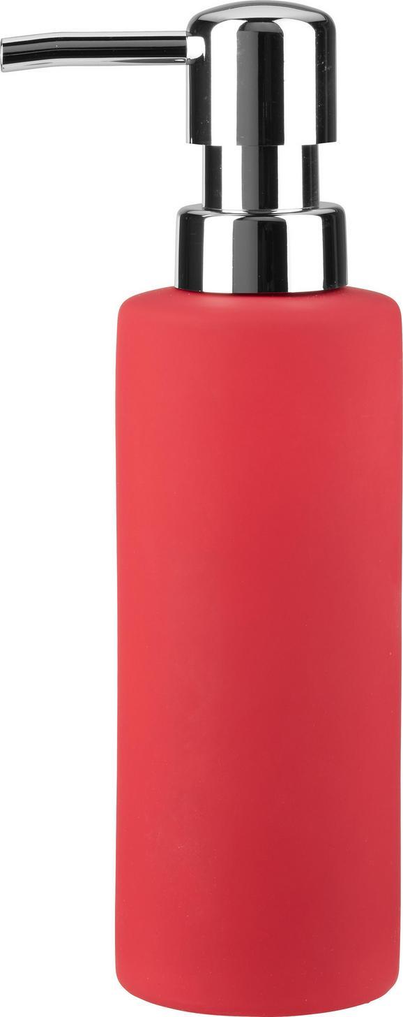 Dozirnik Za Milo Melanie - rdeča, keramika (5/18cm) - Mömax modern living