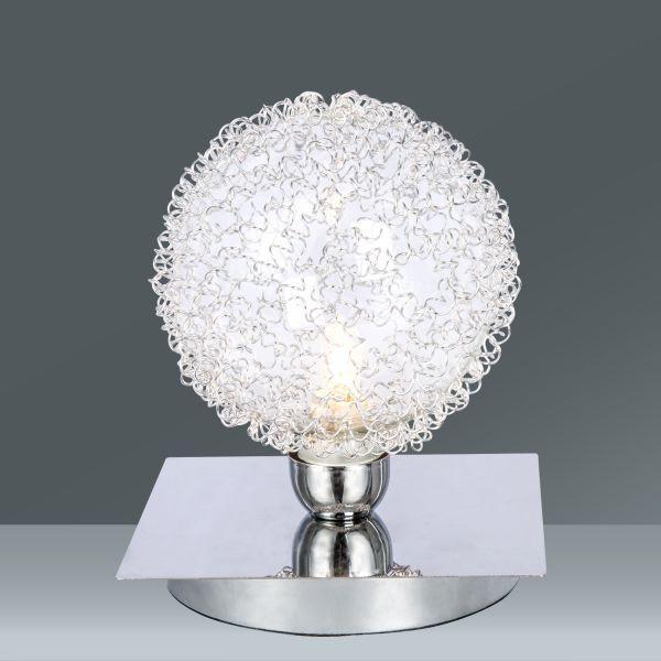 Asztali Lámpa Iona - krómszínű/alu színű, Lifestyle, üveg/fém (10cm) - MÖMAX modern living