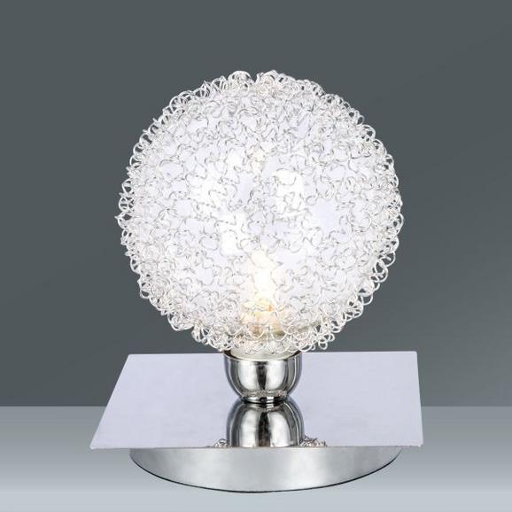 Tischleuchte Iona, max. 28 Watt - Chromfarben/Alufarben, LIFESTYLE, Glas/Metall (10cm) - Mömax modern living