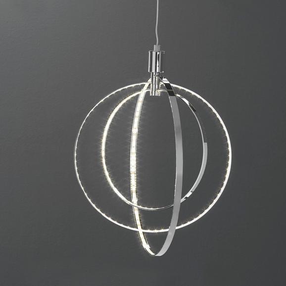 Viseča Svetilka Alice - krom, Design, kovina (42/150cm)