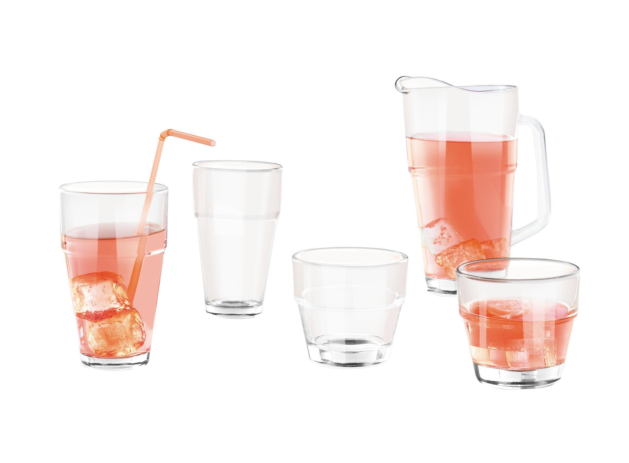 Glaskrug Sabina aus Glas, ca. 1,2 L - Klar, KONVENTIONELL, Glas (12/23cm) - MÖMAX modern living