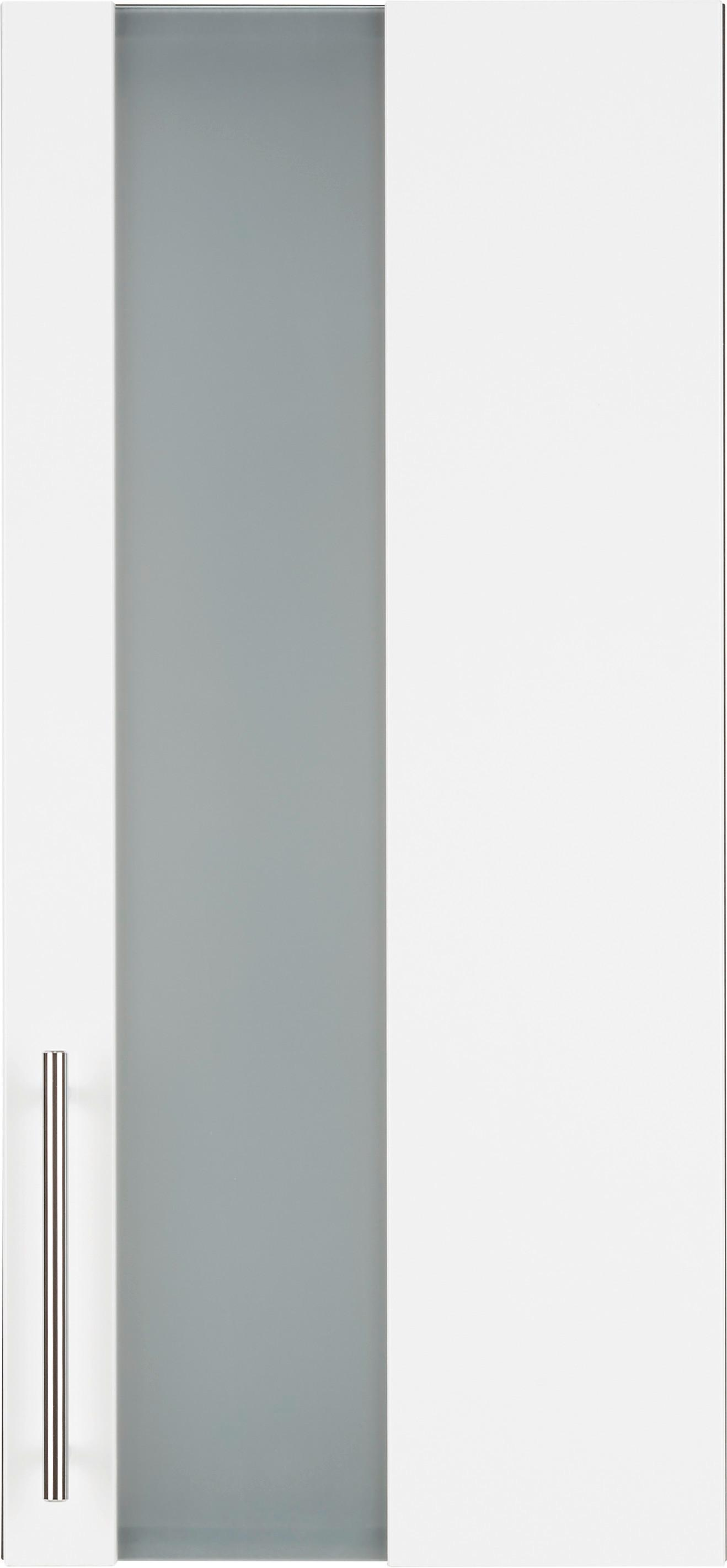 Oberschrank in Weiß/Anthrazit - Chromfarben/Anthrazit, MODERN, Glas/Holzwerkstoff (34/70/21cm) - MÖMAX modern living