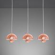 Pendelleuchte Style 3-flammig - Kupferfarben, Metall (20/9/26cm) - Bessagi Home