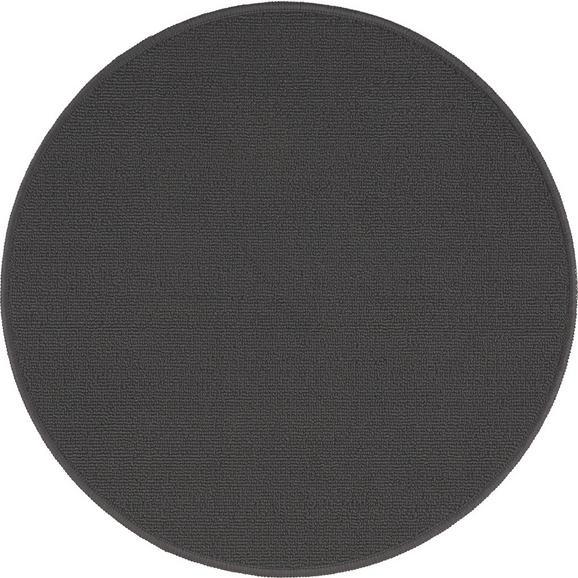 Teppich Eton 2 Dunkelgrau D. 90cm - Anthrazit, LIFESTYLE, Textil (90cm) - Mömax modern living
