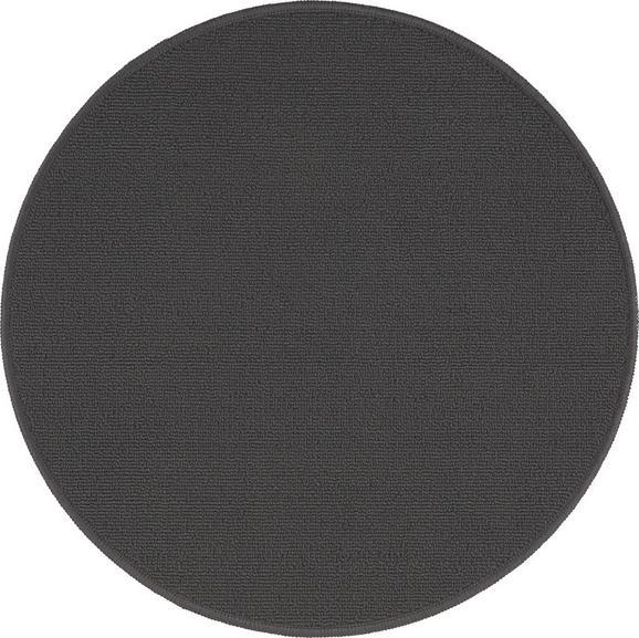 Teppich Eton 2 in Grau D. 90cm - Dunkelgrau, LIFESTYLE, Textil (90cm) - Mömax modern living