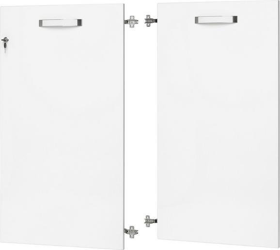 Tür in Weiß Hochglanz - Weiß, MODERN, Holz/Kunststoff (113.5/105.3/1.8cm) - premium living