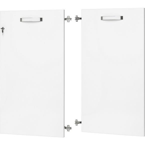 Türenset in Weiß Hochglanz - Weiß, MODERN, Holzwerkstoff/Kunststoff (113.5/105.3/1.8cm) - Premium Living