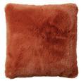 Pernă De Blană Rabbit Uni - ruginiu, Modern, textil (45/45cm) - Premium Living