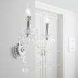 Aplică De Perete Isabella - clar/culoare crom, Romantik / Landhaus, plastic/metal (36/33cm) - Modern Living