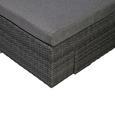 LOUNGEGARNITUR LUZ - Hellgrau/Grau, Design, Kunststoff/Textil (231/146cm)