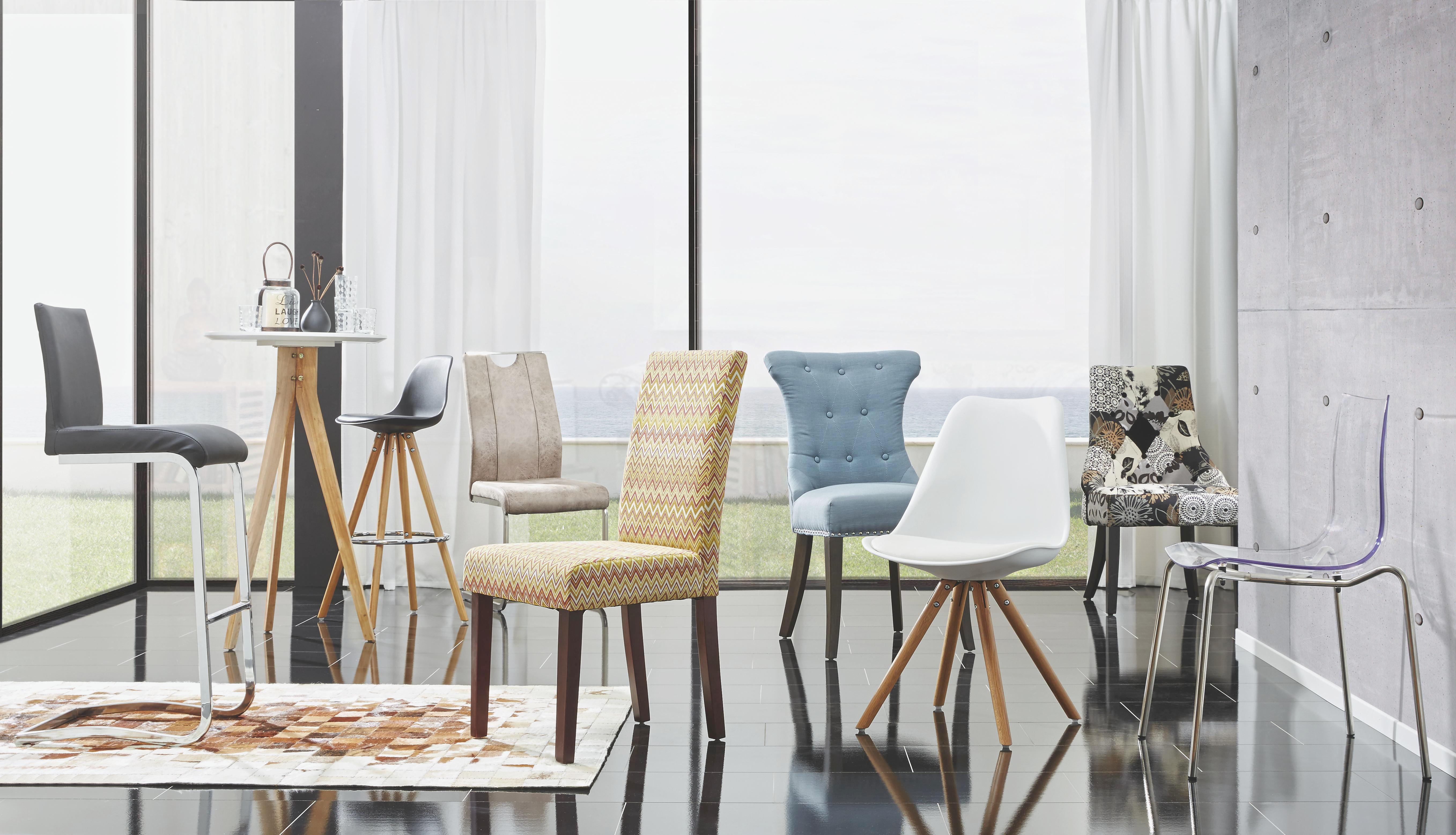 Bárszék Ida - fekete/ezüst színű, modern, műanyag/textil (46/40/105cm) - MÖMAX modern living