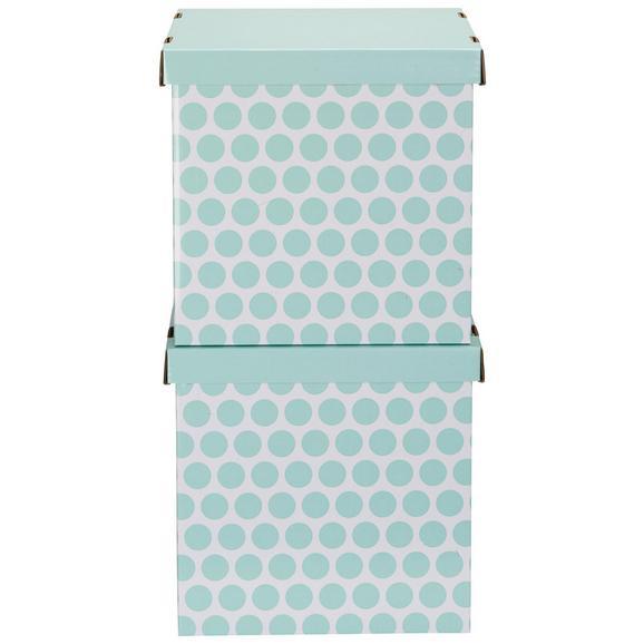 Box mit Deckel Jimmy Grün/Weiß - Weiß/Grün, Karton (31/31/31cm) - Mömax modern living