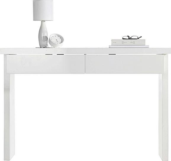 Konsolentisch in Polarweiß Hochglanz - Weiß, LIFESTYLE, Holzwerkstoff (120/83/40cm) - Premium Living