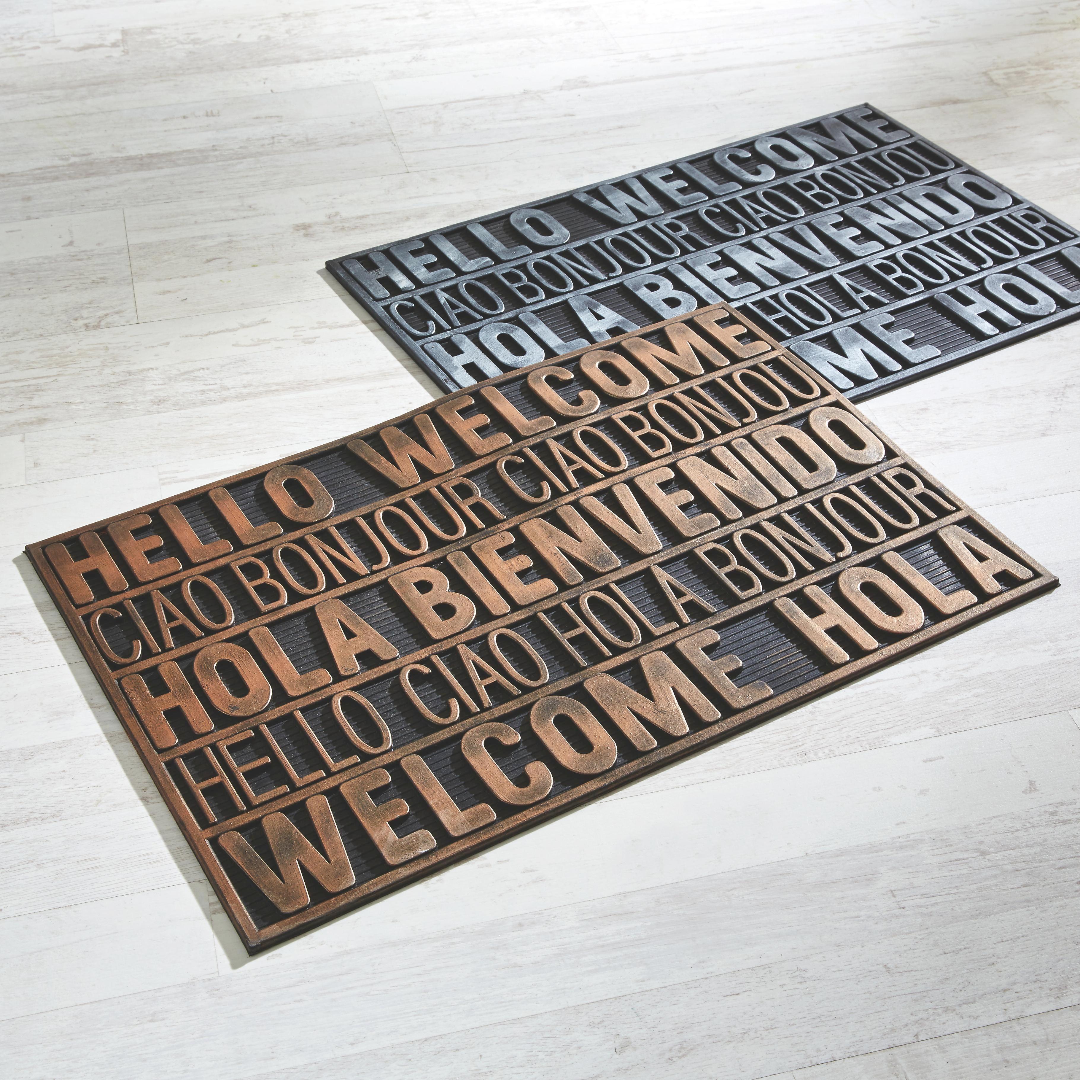 Lábtörlő International Welcome - ezüst színű, modern, műanyag (40/60cm) - MÖMAX modern living