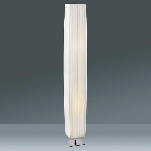 Stehleuchte Agnes, max. 40 Watt - Weiß, ROMANTIK / LANDHAUS, Textil/Metall (119/14/14cm) - MÖMAX modern living