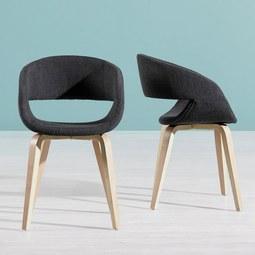 Stuhl Jaquline - Dunkelgrau, MODERN, Holz/Textil (51/77/53cm) - MÖMAX modern living