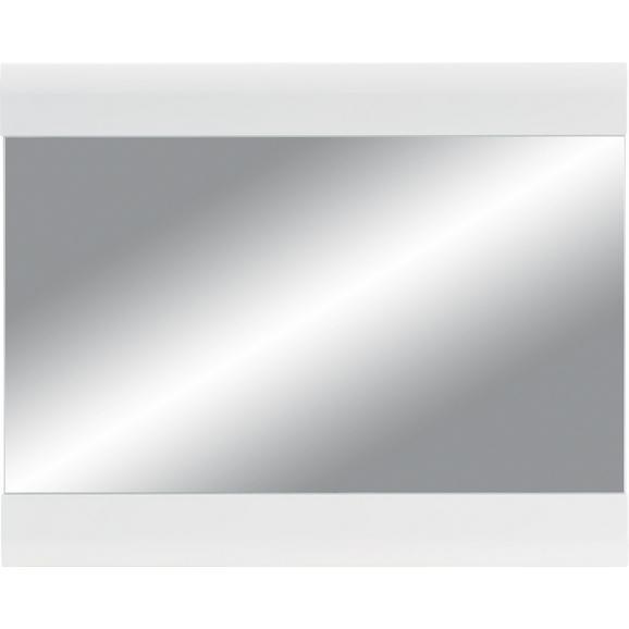 Stensko Ogledalo Linate - bela, Moderno, steklo/leseni material (85/69/2cm) - Mömax modern living