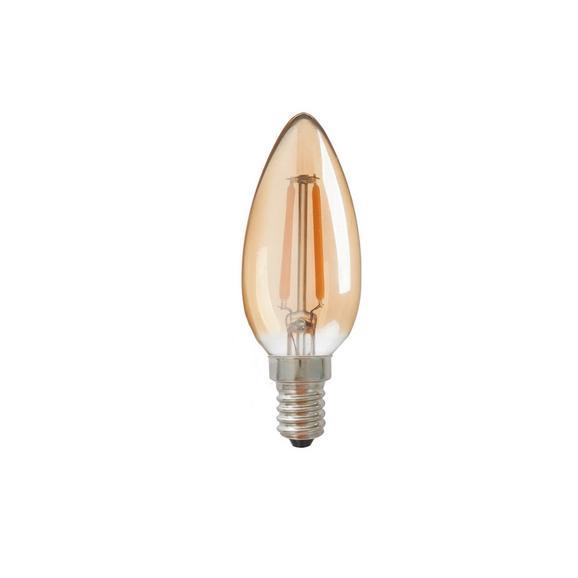 Deko-Leuchtmittel C80284mm max. 4 Watt - Goldfarben, Glas (3,7/11,9cm) - Mömax modern living
