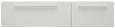 Hängeelement Weiß matt - Chromfarben/Weiß, MODERN, Holzwerkstoff/Kunststoff (160/36/40cm) - Modern Living