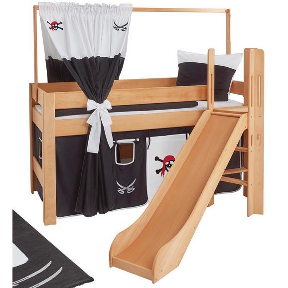 Spielbett Leo - Rot/Schwarz, Design, Holz/Textil (90/200cm)