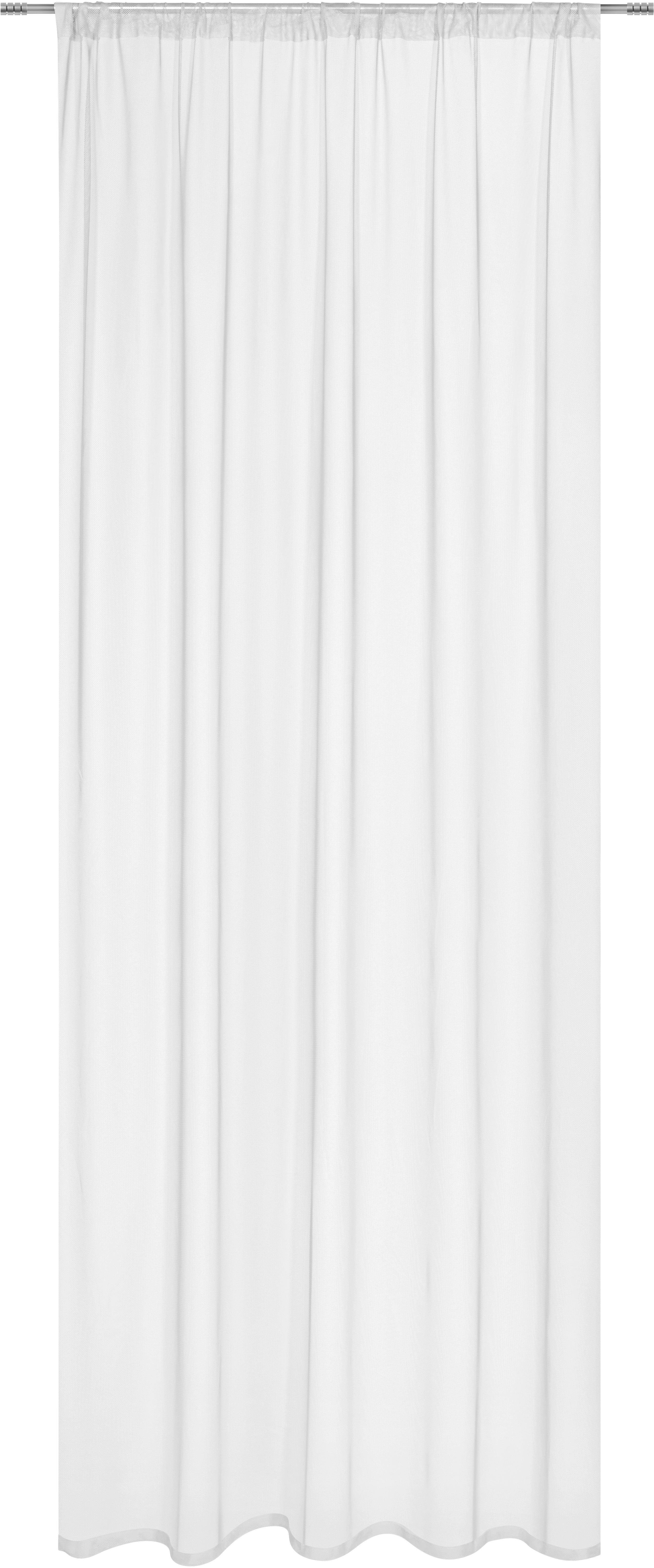 Fertigvorhang Thea in Weiß, ca. 140x245cm - Weiß, ROMANTIK / LANDHAUS, Textil (145/245cm) - MÖMAX modern living