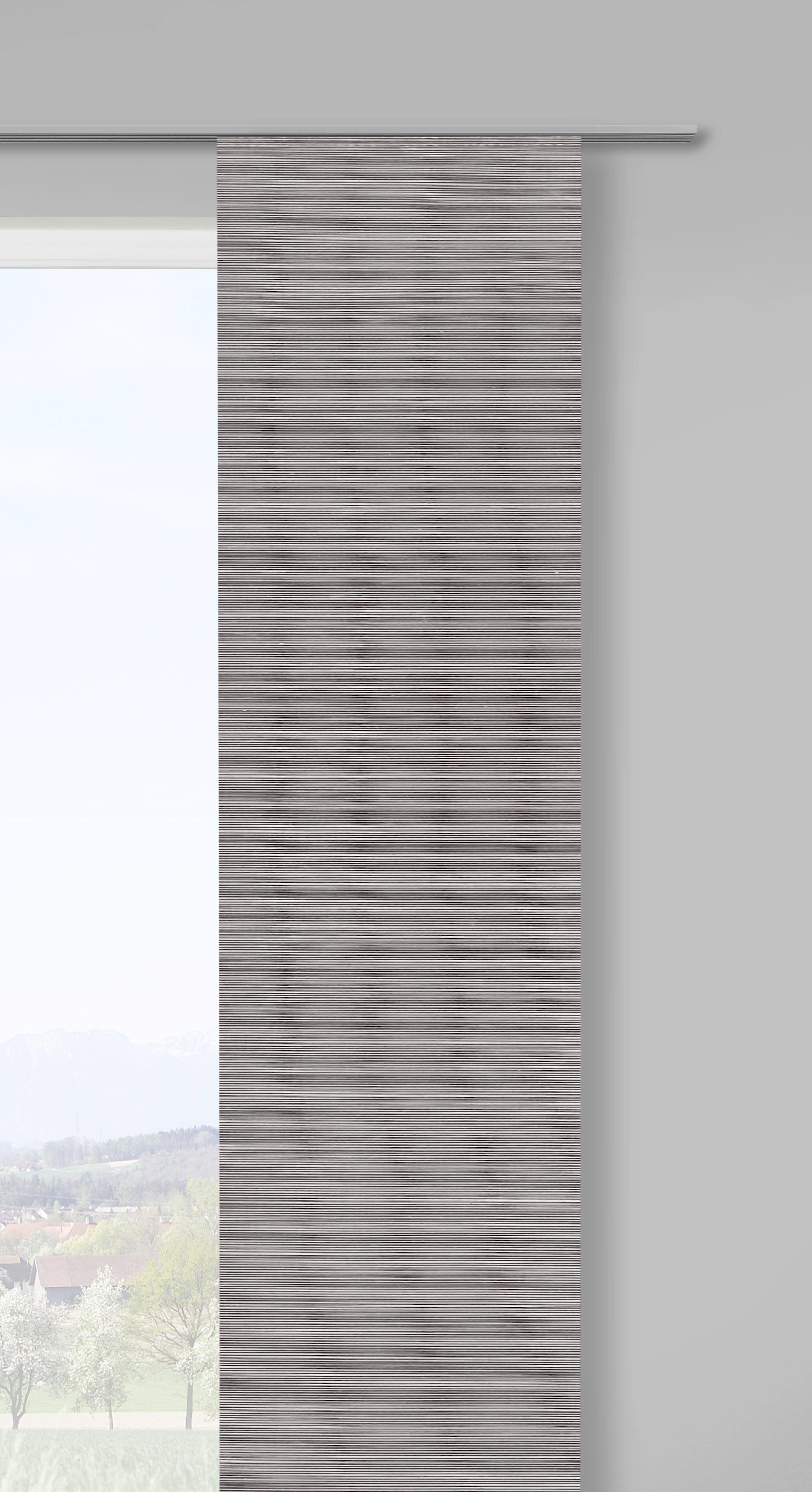 Lapfüggöny Loft - szürke, modern, textil (60/245cm) - MÖMAX modern living