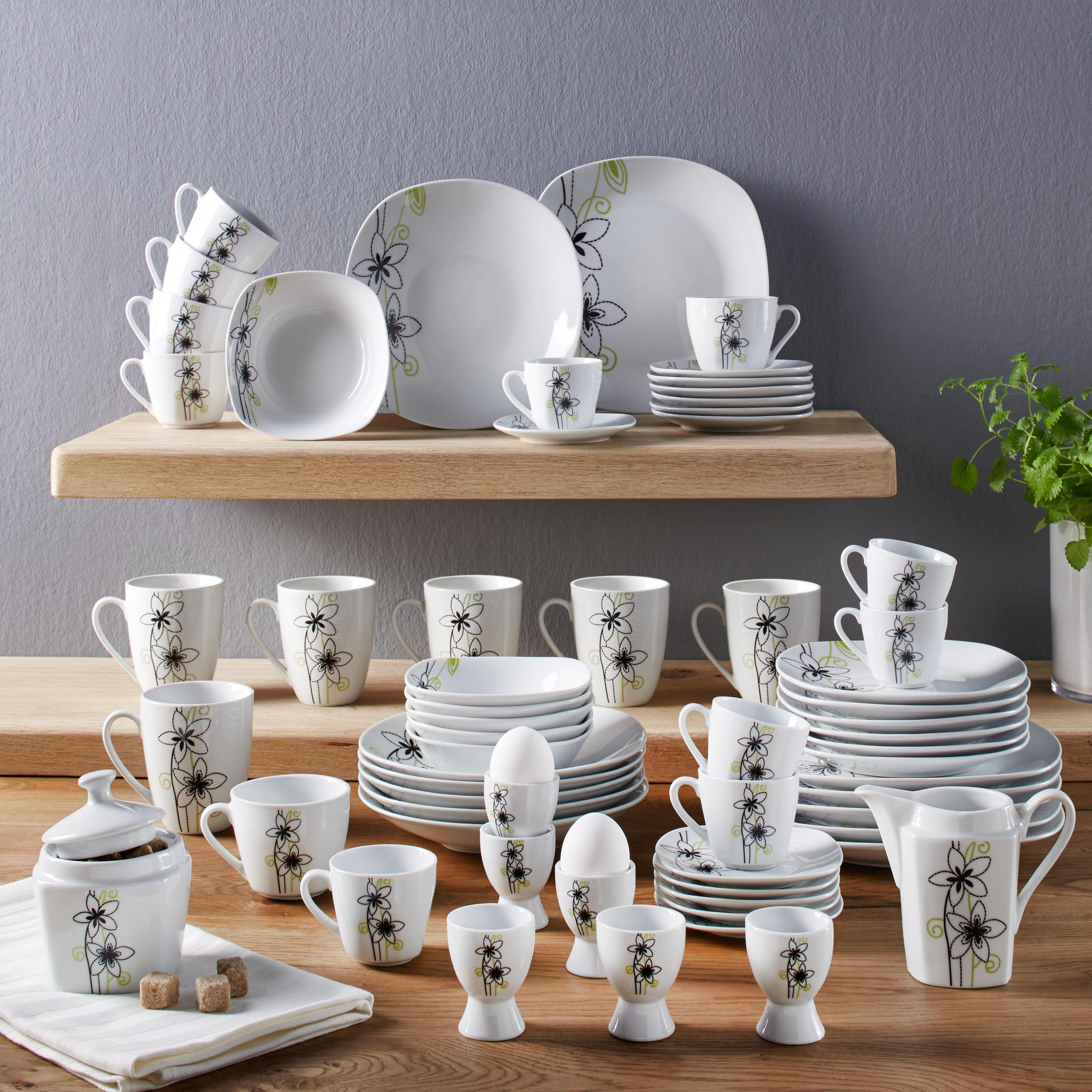 Kombinirani Servis Leonie -top- - črna/bela, Konvencionalno, keramika - MÖMAX modern living