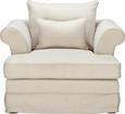 Fotelj Fly - temno rjava/bež, Romantika, tekstil/les (122/71/140cm) - Zandiara