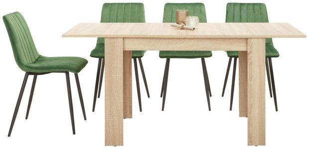 110 szer70 nes szélességű asztat négy székkel