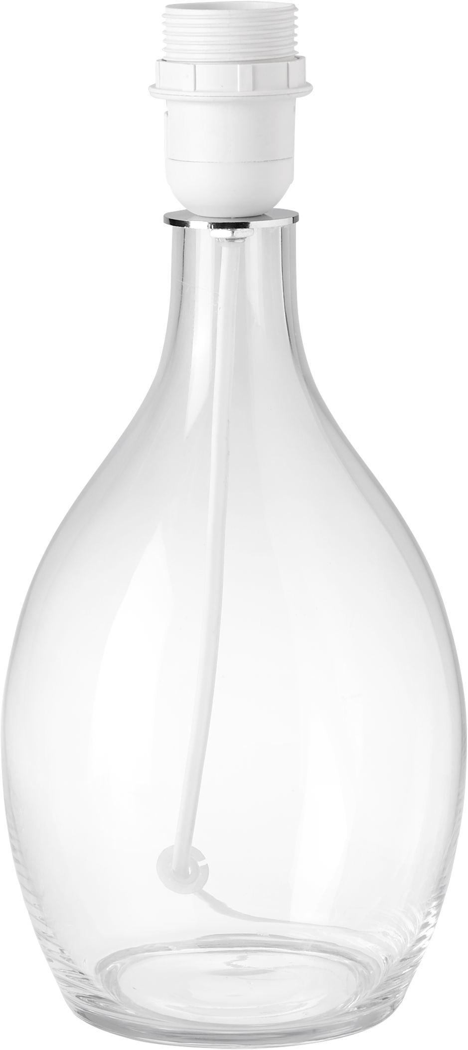 Leuchtenfuß Elsa aus Glas und Kunststoff - Transparent/Weiß, Glas/Kunststoff (14/31cm) - MÖMAX modern living